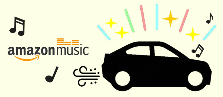 play amazon music in car