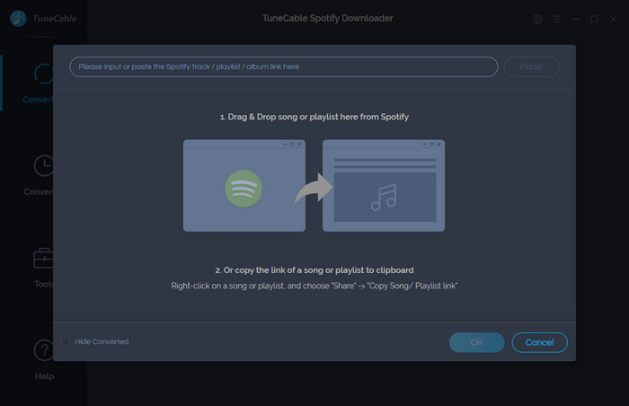 add spotify music to convert